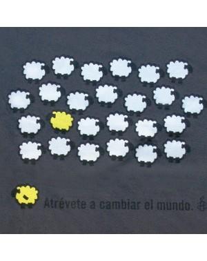 Camiseta unisex oveja amarilla