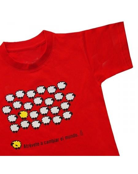 Camiseta infantil oveja amarilla