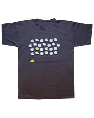 Camiseta unisex oveja amarilla gris Amnistía Internacional para regalar