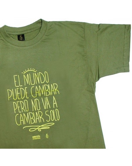 Camiseta unisex Cambia el mundo verde