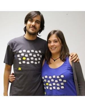 Camiseta unisex oveja amarilla gris Amnistía Internacional