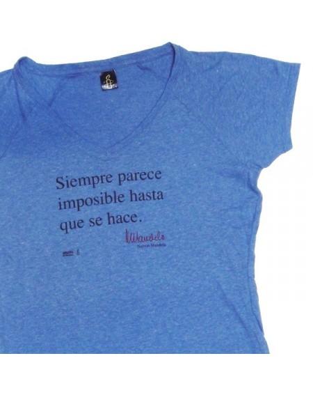 Camiseta mandela mujer