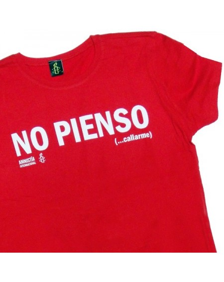Camiseta entallada no pienso roja