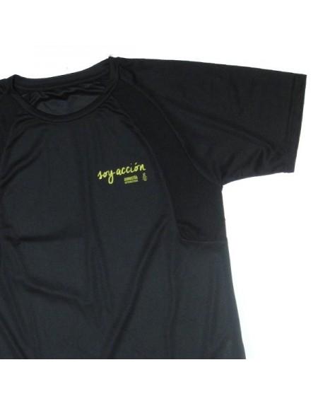 Camiseta técnica unisex Soy Acción negra