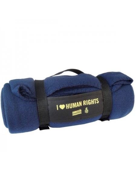 Manta de viaje I love Human rights