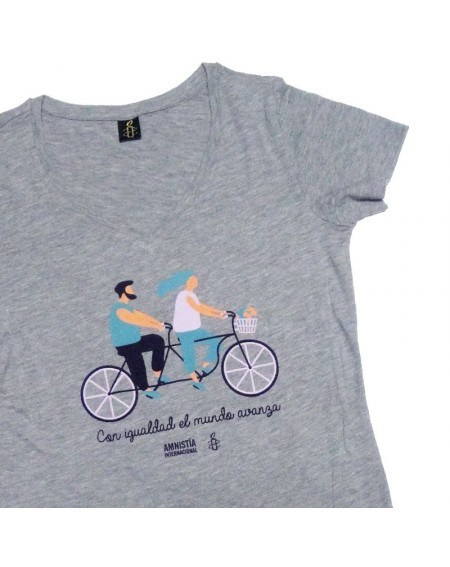 Camiseta Tandem avanza gris talla M