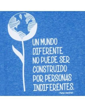 Camiseta Eres Diferente azul