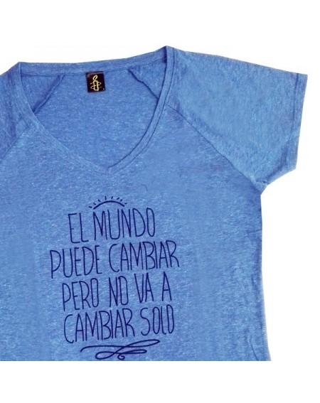Camiseta entallada Cambia el mundo