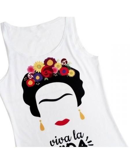 Camiseta Frida Viva la Vida tirantes