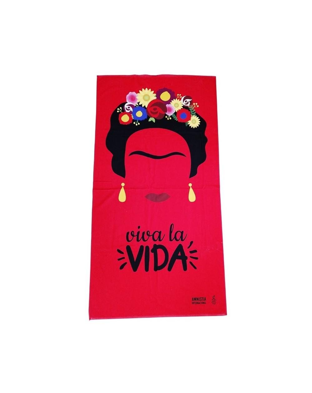 Toalla de playa Frida viva la Vida