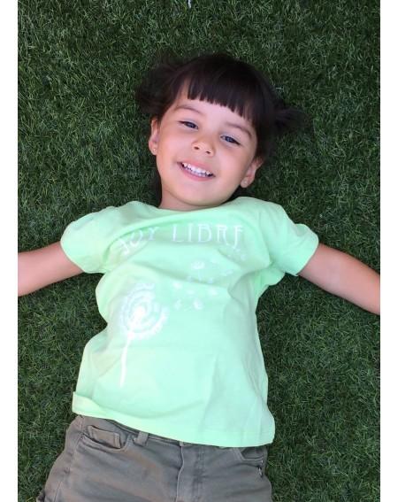 Camiseta orgánica Soy libre infantil