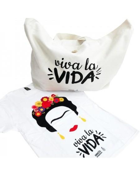 Pack camiseta y bolsa Frida Viva la Vida