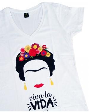 Camiseta mujer Frida algodón orgánico
