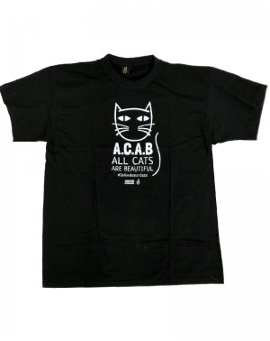 Camiseta con mensaje negra para hombre Amnistía Internacional