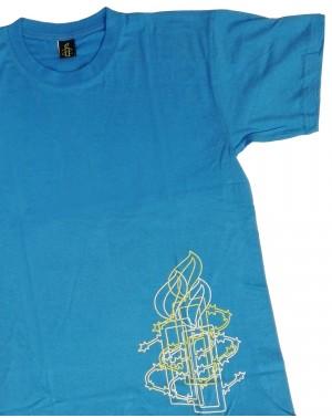 Camiseta original para hombre vela Amnistía Internacional en azul