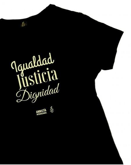 Camiseta derechos humanos para mujer Amnistía Internacional