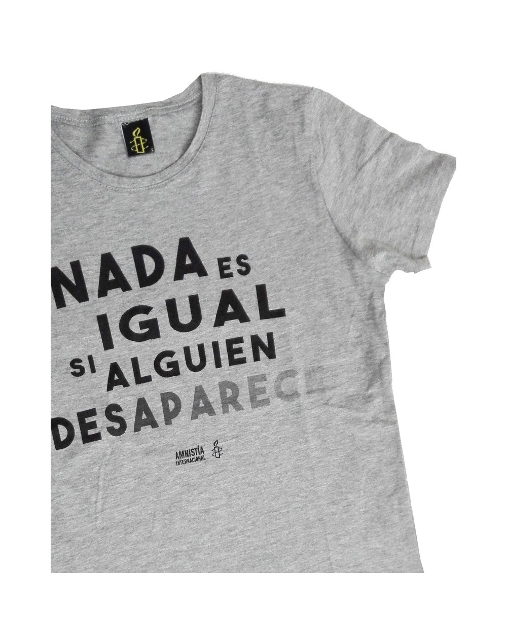 Camiseta desaparecidos mujer Amnistía Internacional