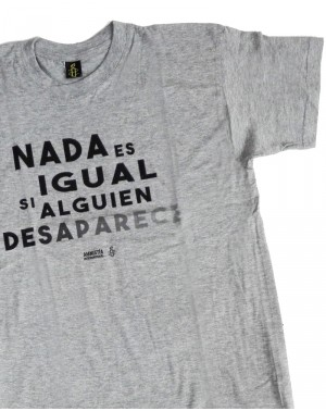 Camiseta solidaria para hombre Amnistía Internacional desaparecidos