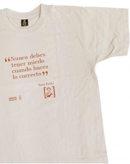 Camiseta para hombre feminista Rosa Parks Amnistía Internacional