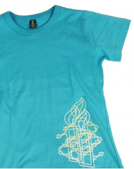 Camiseta vela Amnistía Internacional mujer azul