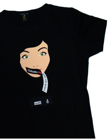 Camiseta Calladita No estás más guapa Amnistía Internacional