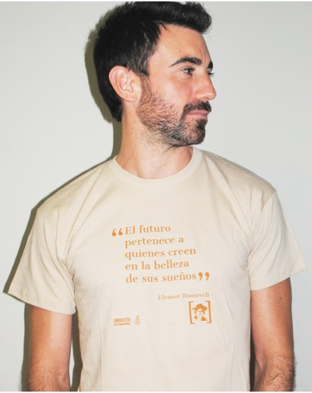 Camiseta con mensaje para chico Amnistía Internacional Eleanor Roosvelt