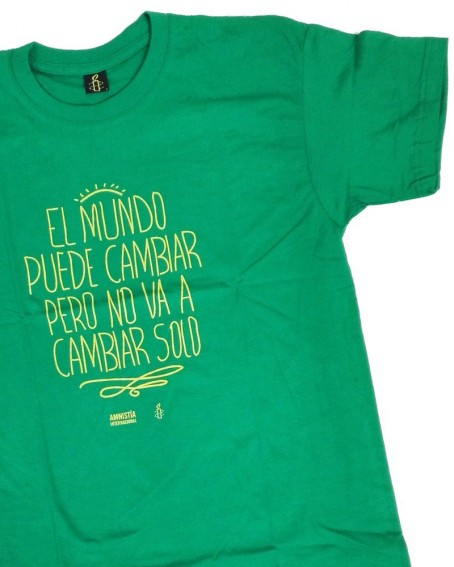 Camiseta original para regalar para hombre con frase Amnistía Internacional