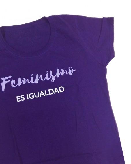Camiseta entallada Feminismo glitter