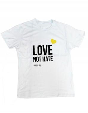 Camiseta orgullo gay para chico Amnistía Internacional Love not hate