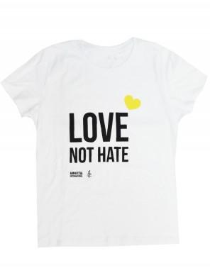 Camiseta para el día del orgullo gay Amnistía Internacional Love not hate