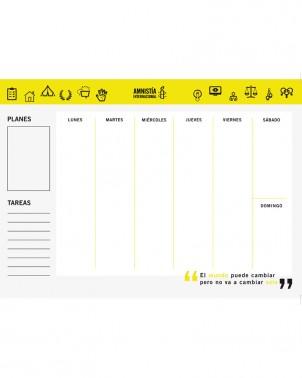 Planificador semanal para organizar tareas semanales Amnistía Internacional