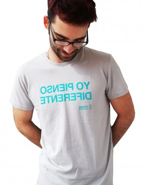 Camiseta original chico tipográfica Amnistía Internacional