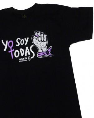 Camiseta lucha de la mujer Yo soy todas Amnistía Internacional unisex