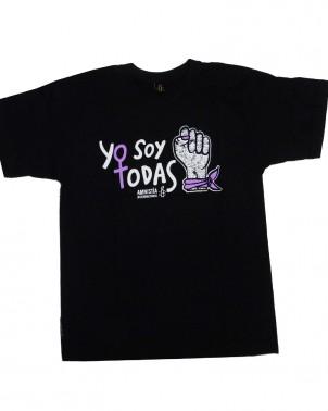 Camiseta contra la violencia de género Yo soy todas unisex Amnistía Internacional