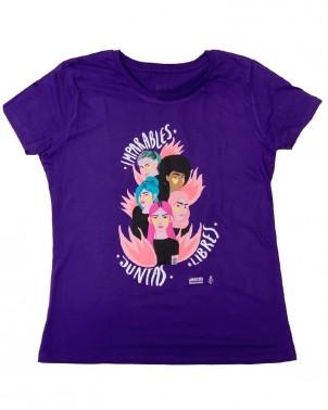 Camiseta morada 8 de marzo con mensaje feminista Amnistía Internacional
