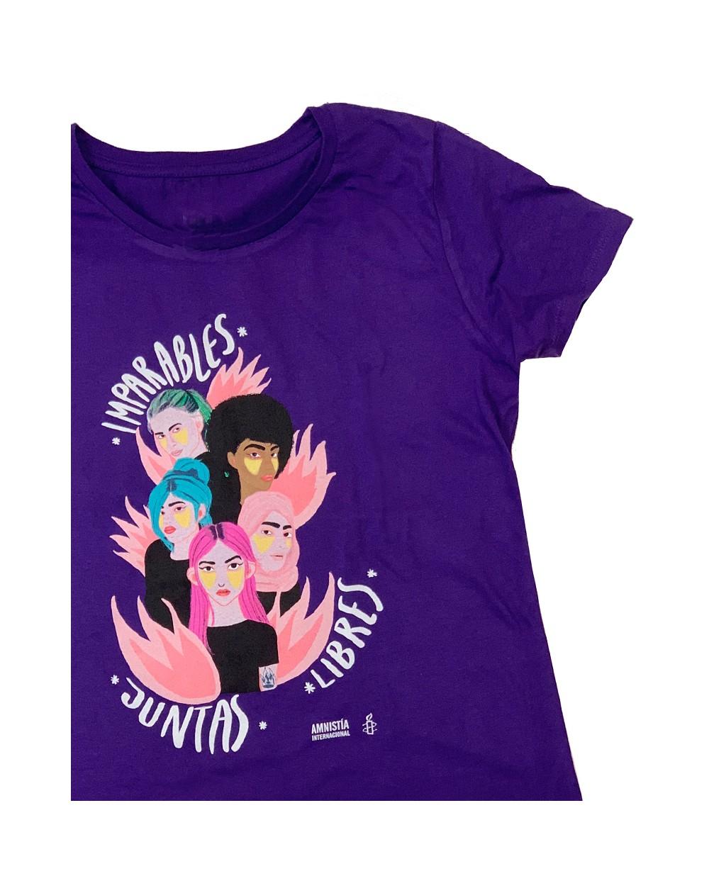 Camiseta Feminista morada para el día de la mujer Amnistía Internacional sororidad