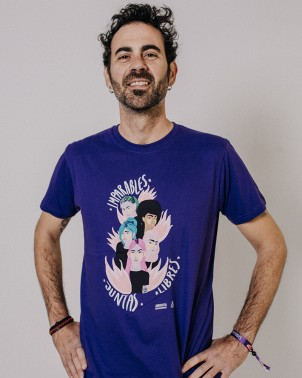 Camiseta para hombre feminista Juntas, libres e imparables Amnistía Internacional