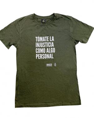 Camiseta unisex contra la injusticia Amnistía Internacional