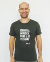 Camiseta hombre con mensaje justicia Amnistía Internacional