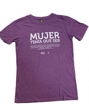 Camiseta morada unisex Mujer tenía que ser Amnistía Internacional