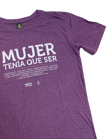Camiseta Mujer tenía que ser feminista Amnistía Internacional