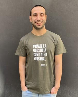 Camiseta tipográfica derechos humanos Amnistía Internacional