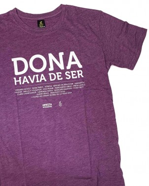 Samarreta feminista home en català Dona havia de ser Amnistia Internacional