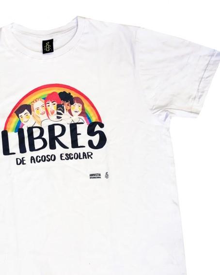 Camiseta chico libres contra el acoso escolar Amnistía Internacional