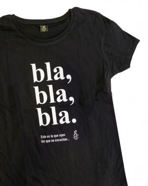 Camiseta mujer blablabla Amnistía Internacional