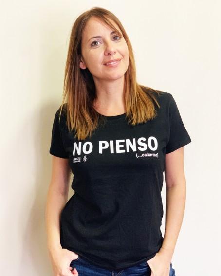 Camiseta para hombre No pienso Callarme Amnistía Internacional. Camiseta con mensaje