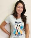 Camiseta ecológica con mensaje Amnistía Internacional Nacida para la lucha