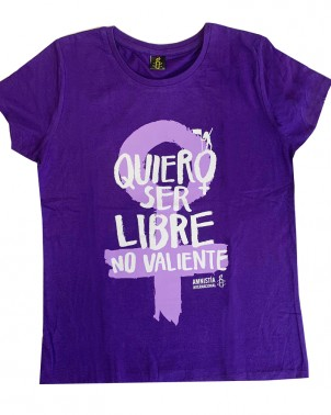 Camiseta feminista morada Amnistía Internacional 8 de marzo