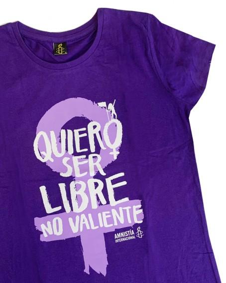 Camiseta feminista para mujer Amnistía Internacional Quiero ser libre