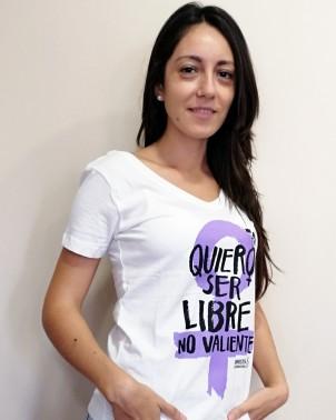 Camiseta feminista y ecológica Amnistía Internacional para mujer Quiero ser Libre